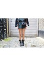 Black-ash-boots-black-chanel-bag-river-island-romper