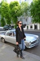 Zara blazer - ASH boots - Mango jeans - balenciaga bag