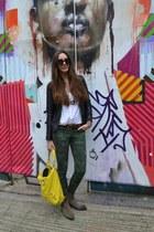 Zara jeans - yellow balenciaga bag