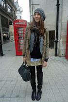 Primark boots - vintage skirt