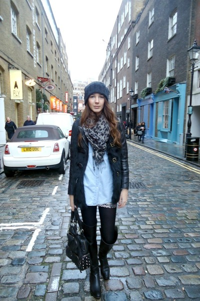 Forever21 skirt - Giuseppe Zanoti boots - Diesel hat - Bershka jacket