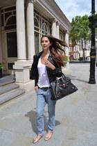 balenciaga bag - acne jeans - Bershka jacket - Forever21 bracelet