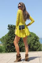 Zara boots - H&M dress - Yves Saint Laurent bag