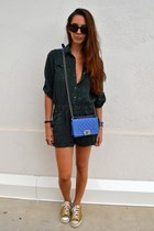 Chanel bag - Converse sneakers - River Island romper