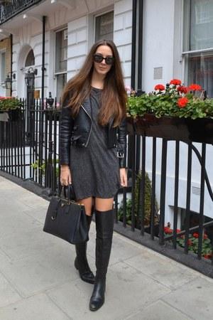 H&M dress - Zara jacket - Prada bag