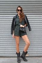 black ASH boots - black Chanel bag - River Island romper