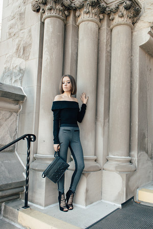 black 31 Phillip Lim bag - black Tobi bodysuit - black Kendall  Kylie heels