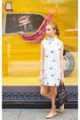 Shift-dress-the-shopping-bag-dress-black-kate-spade-bag