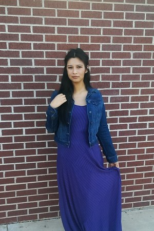 navy Old Navy jacket - deep purple Target dress
