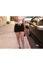 Belt-steve-madden-shoes-vintage-bag-bag-black-mimi-chica-shorts