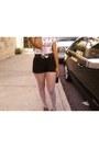 Belt-steve-madden-shoes-vintage-bag-bag-black-mimi-chica-shorts