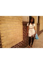 Steve Madden shoes - white rag dress decree dress - Spring bag - H&M belt