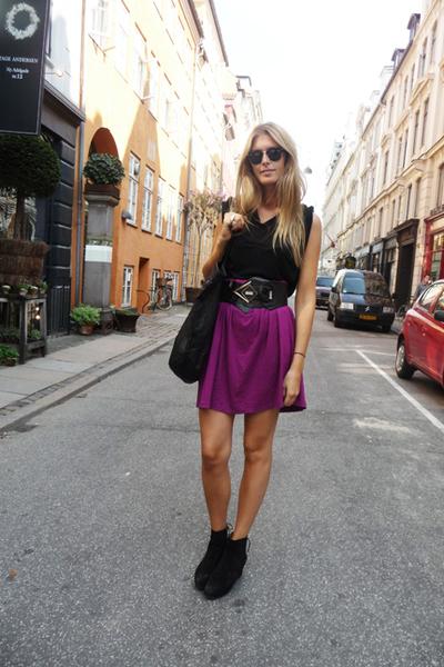 homemade skirt - 2ndhand belt - alaia boots