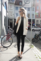 black Topshop jeans - gray Sigerson Morrison shoes - white 2ndhand jacket