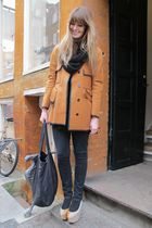 orange balenciaga jacket - black Topshop jeans - beige Nina Dolcetti shoes