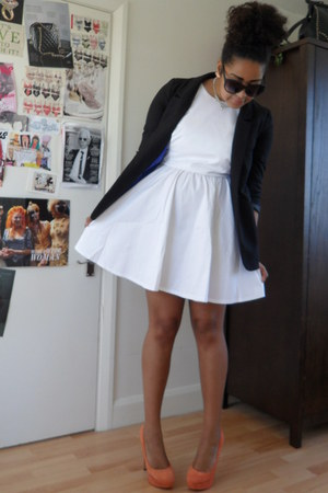 white asos dress - black H&M blazer - black H&M sunglasses