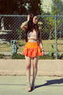 Carrot-orange-free-people-shorts-light-orange-free-people-top