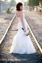 ivory taffeta lace San Patrick of Barcelona dress