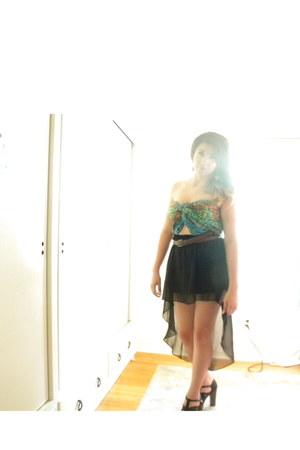 Forever21 scarf - Love Culture skirt - Charlotte Russe heels