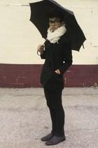 jacket - pants - scarf - boots - glasses - shirt