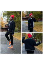 Forever 21 hat - Topman jeans - Forever 21 jacket - nike sneakers