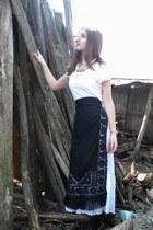 off white H&M t-shirt - black handmade shirt