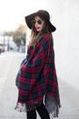 Black-jeans-denizen-jeans-black-wool-forever-21-hat