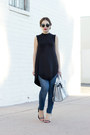Black-black-dress-de-lacy-dress-navy-skinny-jeans-zara-jeans