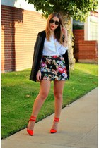 Forever 21 skirt - Shoe Cult shoes - Zara shirt - Michael Stars cardigan