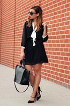 white asos dress - black Shoe Dazzle heels