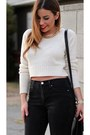 Black-forever-21-jeans-cream-unknown-sweater-black-vintage-leather-coach-bag