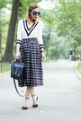 White-black-and-white-lulus-sweater-black-checkered-midi-joa-skirt