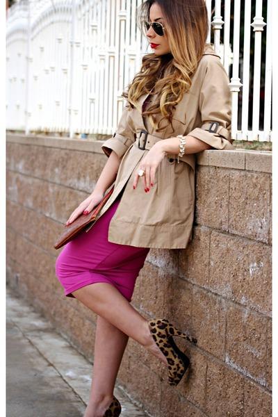 dark khaki trench coat Forever 21 coat - bubble gum bodycon asos dress