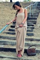 Steve Madden heels - Lauren Conrad dress - leather suede vintage bag
