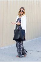 white white summer unknown blazer - black oversized lulus bag
