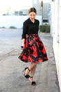 Black-dailylook-shirt-ruby-red-full-lucy-paris-skirt