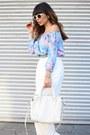 White-retro-zara-sunglasses-white-wide-leg-her-velvet-vase-pants