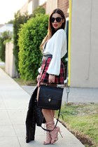 black coach bag - ruby red Neon Rose skirt - white Jeunesse top