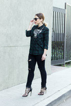 silver statement 21 HM Boutique necklace - black skinny jeans StyleMint jeans