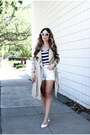 Dark-khaki-trench-coat-azalea-coat-white-vintage-levis-shorts