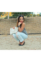 distressed Forever 21 jeans - Pour La Victoire bag - Love Label top