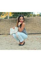 distressed Forever 21 jeans - Pour La Victoire bag - Love Label top