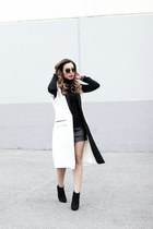 ivory vest Missguided vest - black turtleneck Zara sweater