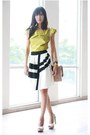 Neutral-prada-bag-lime-green-karen-millen-top-black-reiss-skirt