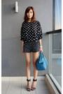 Teal-tods-bag-black-mood-closet-shorts-black-zara-heels