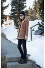 Black-coach-boots-black-7-for-all-mankind-jeans-brown-shearling-prada-jacket
