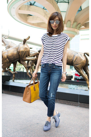 Melissa shoes - navy Guess jeans - leather Miu Miu bag