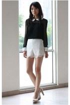 Mood & Closet shorts - chiffon Mood & Closet top - Aldo heels