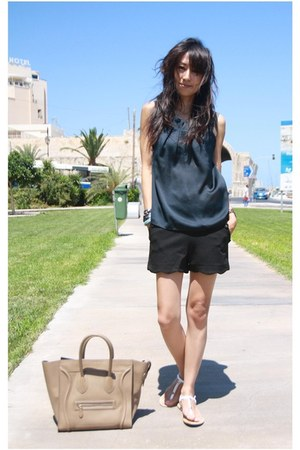 black Mood & Closet shorts - tan boston leather Celine bag