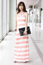 light pink Mood & Closet dress - black Mood & Closet bag - white Aldo pumps